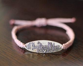 All You Need is Love Bracelet - Hemp Bracelet - Hemp Jewelry