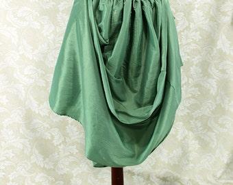 "Steampunk Renaissance Basic Skirt -- Sea Green Taffeta -- Fits up to 40"" Waist, 39"" Length -- Ready to Ship"
