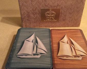 Vintage Bridge Playing Cards 1938 Sail Boats