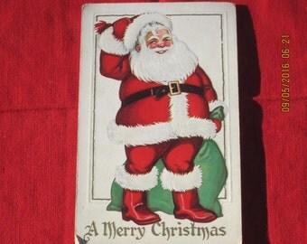 Santa Claus Vintage Post Card Merry Christmas