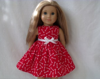 18 Inch Doll-American Girl Valentine Dress: Arrows