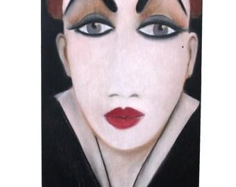"""Original Painting Portrait Pastels on Wood """"Alex"""""""