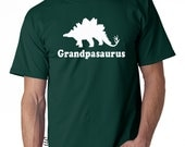 Personalized grandpa dinosaur shirt, gifts for grandpa, Mens stegosaurus dinosaur t shirt, gifts for grandparents, fathers gift
