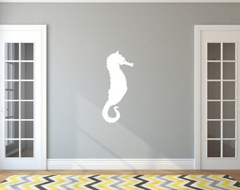 Seahorse Decal | Vinyl Wall Decal  | Beach Decal | Beach Decor | Ocean Decal | Nursery Decor | Large Seahorse | 22565 Style A