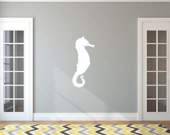 Seahorse Style A Large Vinyl Wall Decal 22565 | Beach Wall Decals | Beach Decor