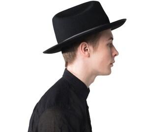 Black Open Road Hat