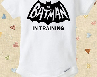 Batman in Training Baby Onesie Comic Book Marvel Superhero Newborns Infants to 18-24 Months