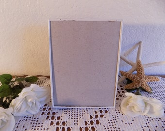 White Rustic Shabby Chic Distressed 6 x 8 Picture Frame Photo Decoration Beach Cottage Coastal Seaside French Country Farmhouse Home Decor