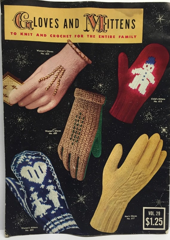 Old Knitting Pattern Books : Vintage Knitting Pattern Book Mitten Pattern How to Book