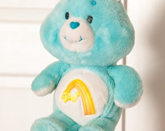 Vintage 1983 Care Bear - Wish Bear