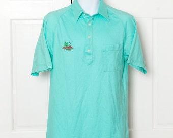 Fun Vintage 70s 80s HAWAII Polo Shirt - M