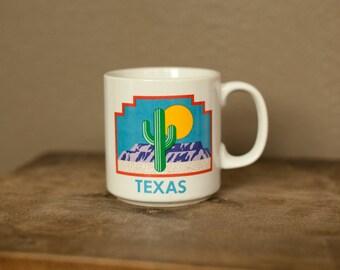 Vintage 80s 90s TEXAS Mug - desert scene