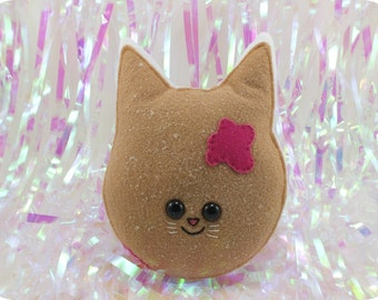 Cat Jelly Doughnut Plush - Raspberry
