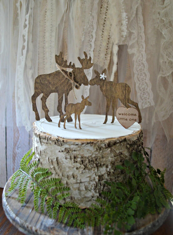 Baby Moose Cake Topper