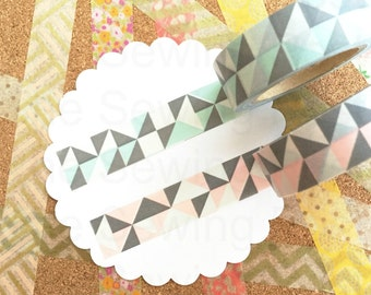 Washi Tape Set: Geometric Pastels