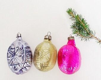 Vintage ornaments, Vintage Christmas, Home Decor, Retro, Soviet, Glass toys