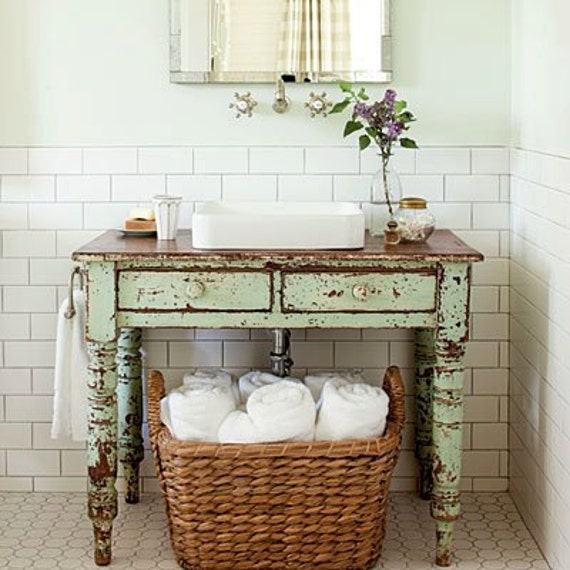 Bathroom Vanity From Primitive Table In Stock Ready To