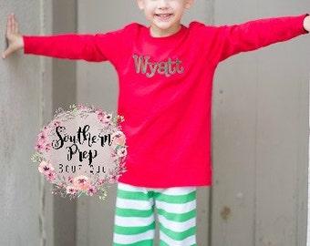GREEN Boys Knit Pants - Pajama Pants - Fall pants for boys - Holiday gift - Birthday gift - Boy's pants - Comfy Knit pants