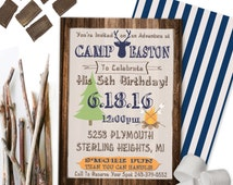 Camping Invitation Campout Party Invitation Campout Birthday Wilderness Party Bachelor Party Invitation 5x7 Printable