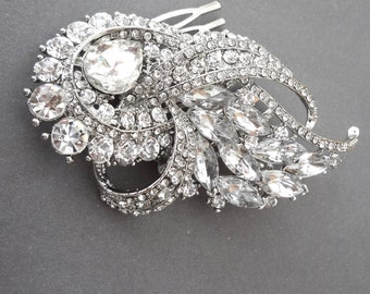 Bridal hair comb ~ Rhinestone hair accessories ~ Crystal hair comb ~ Wedding hair piece ~ Statement hair piece ~ Crystal hair comb ~