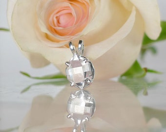 Raw Herkimer Diamond Pendant, Herkimer Diamond Pendant, Raw Crystal Pendant, Raw Crystal Jewelry, April Birthstone Jewelry, Herkimer Diamond