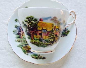 Vintage Regency China Cottage Tea Cup