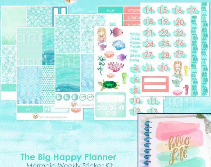The BIG Happy Planner The Mermaid Weekly Planner Sticker Kit forthe MAMBI BIG Happy Planner