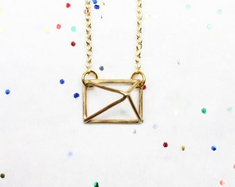 Small Square Prism Necklace Pendant
