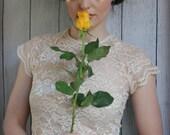 Mermaid flower headpiece, Gatsby rose crown, bridal headdress,  vintage style crown,  flapper headpiece