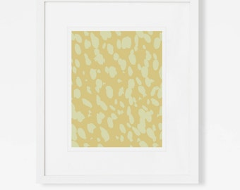 Chic Art - Cheetah Print - Yellow Wall Art - Abstract Artwork - Vertical or Horizontal - 5x7, 8x10, 11x14, 16x20, 18x24