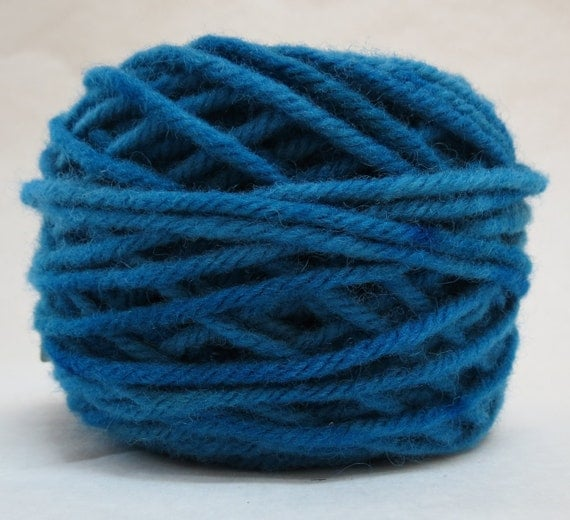 BLUE JAY , 100% Wool, 2 ozs. 43 yards, 4-Ply Bulky weight or 3-ply Worsted weight yarn already wound into cakes ready to use. Made to order.