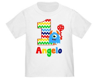 Monster Personalized Birthday Shirt - ANY Age