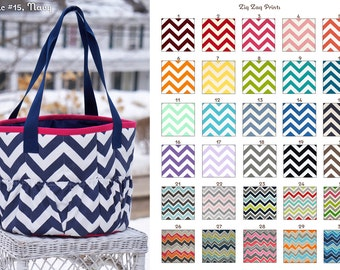 MADE TO ORDER Zig Zag Large Groom Bag/Tote Many Colors
