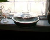 """Guardian Service Large 12"""" Roaster with Glass Lid Vintage 1940s"""