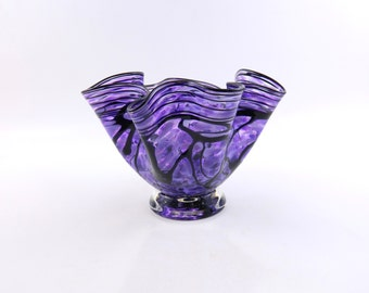 Purple Blown Glass Bowl