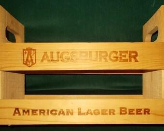 Augsburger Beer Crate Wooden Beer Crate Wood American Lager Beer Joseph Huber Brewing Company