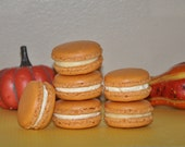 12 Macarons Cookies Pumpkin Spice  French  Almond Assorted Gift Favor Holiday flavors