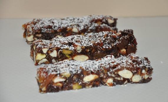 Italian Fruit Cake Recipes: Handmade Panforte Fruit Nut Cake Dessert Candy Italian