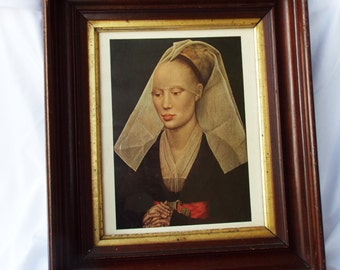 Van Der Weyden Portrait of a Lady Framed Vintage Museum Reproduction