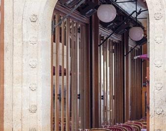 Paris Photo - Restaurant Fontaine de Mars, Parisian Vintage Fine Art Photograph, Home Decor, Large Wall Art