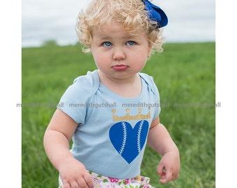 Kansas City Royals onesie, childrens tee, screen printed or heat pressed by hand