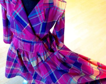 Vintage Joan Harper Plaid Dress 1980s