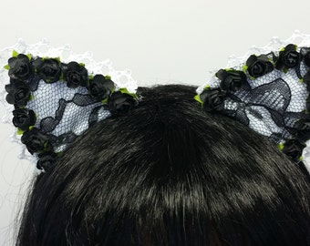 Cat Headband- Cat Ears-Ariana Grande-Ariana Headband-Ariana Cat Ears-Lolita Headband-Lolita Cat Ears-Neko-Harajuku-Lolita Fashion
