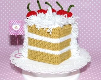 Coconut Cake Tissue Box Cozy Cover-Tissue Box Cover-Tissue Box Cozy-Kawaii-Cake Cozy-Christmas Gift-Housewares-Kitchen Decor-Lolita
