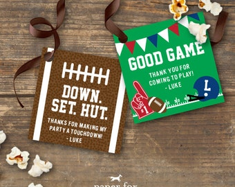 Football Birthday Gift Tags Printable