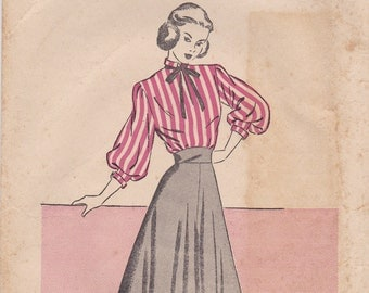Vintage Blouse & Skirt Pattern Country Gentleman 5010 Size 15