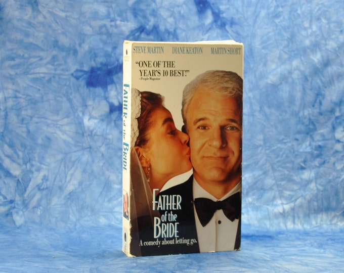 Vintage VHS Tape Father Of The Bride 1991 - Steve Martin - Diane Keaton - Kimberly Williams-Paisley - Kieran Culkin - George Newbern