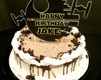 Star Wars Death Star Tie Fighter Birthday Cake Topper