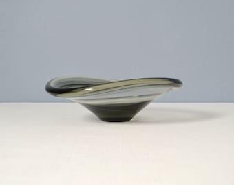 Vintage Per Lutken Smoked Glass Holmegaard Selandia Bowl