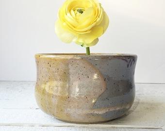 Ceramic Vase, Pottery Vase, Flower Vase, Wheel Thrown Pottery. Glazed in Lilac Purple. In Stock.